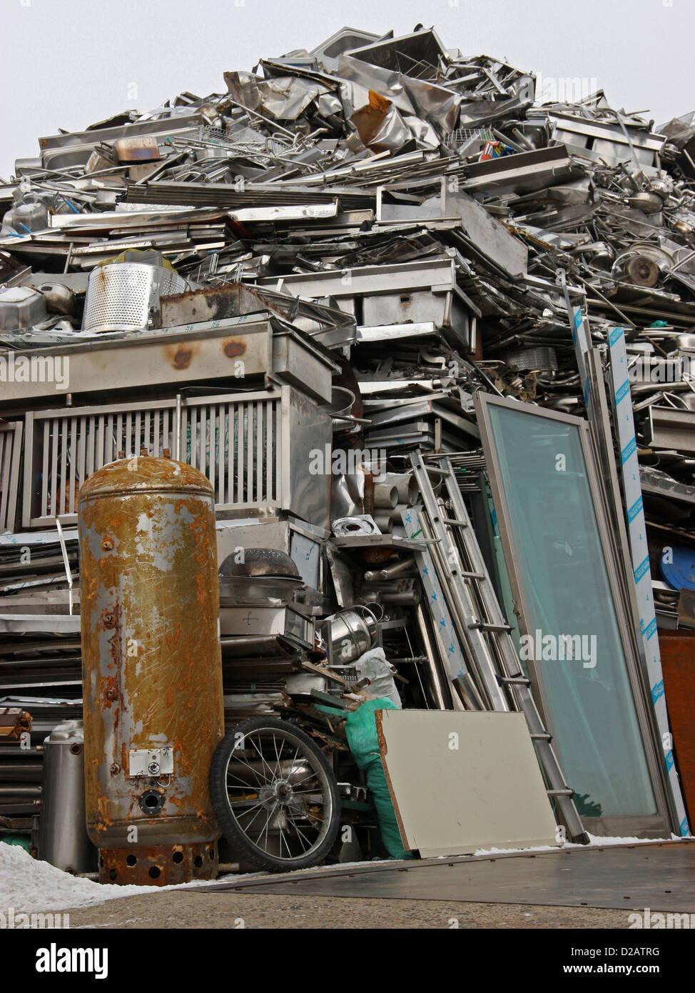 Depósito de chatarra de Jeonju, Corea del Sur Foto de stock