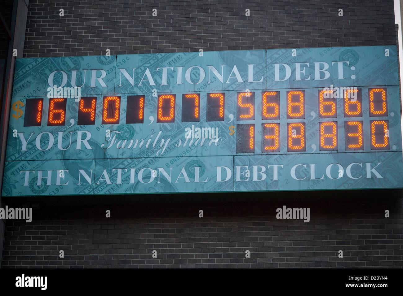 El Deuda Nueva YorkMostrando Reloj La En De Nacional 8wNn0m