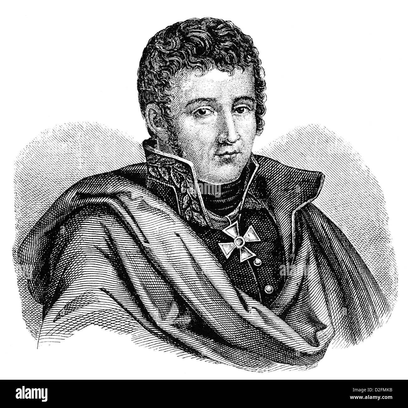 Gerhard Johann David von Scharnhorst, 1755 - 1813, un general militar prusiano y reformador de la época de las guerras napoleónicas, Foto de stock