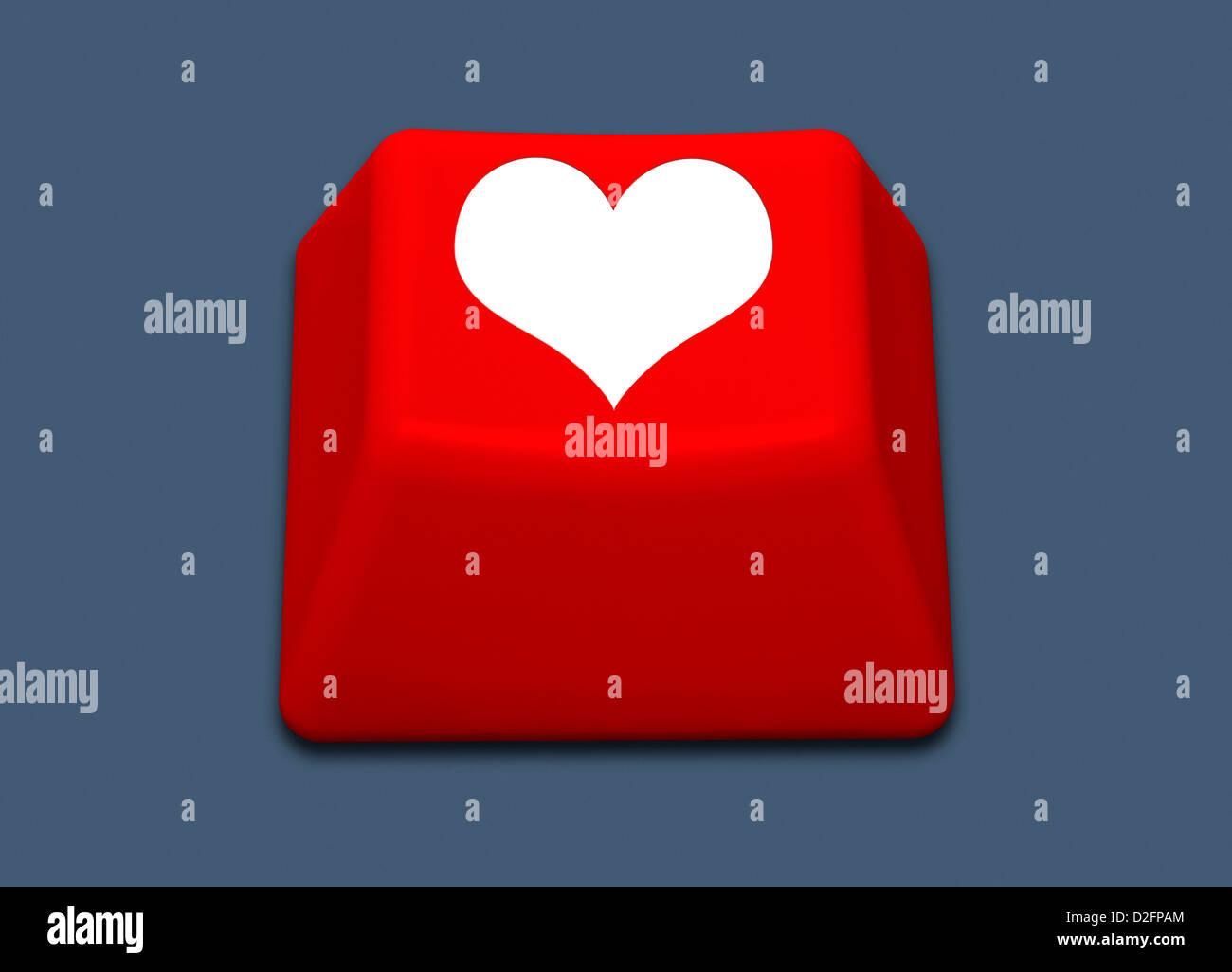 Internet online dating / amor online / social media concept Imagen De Stock