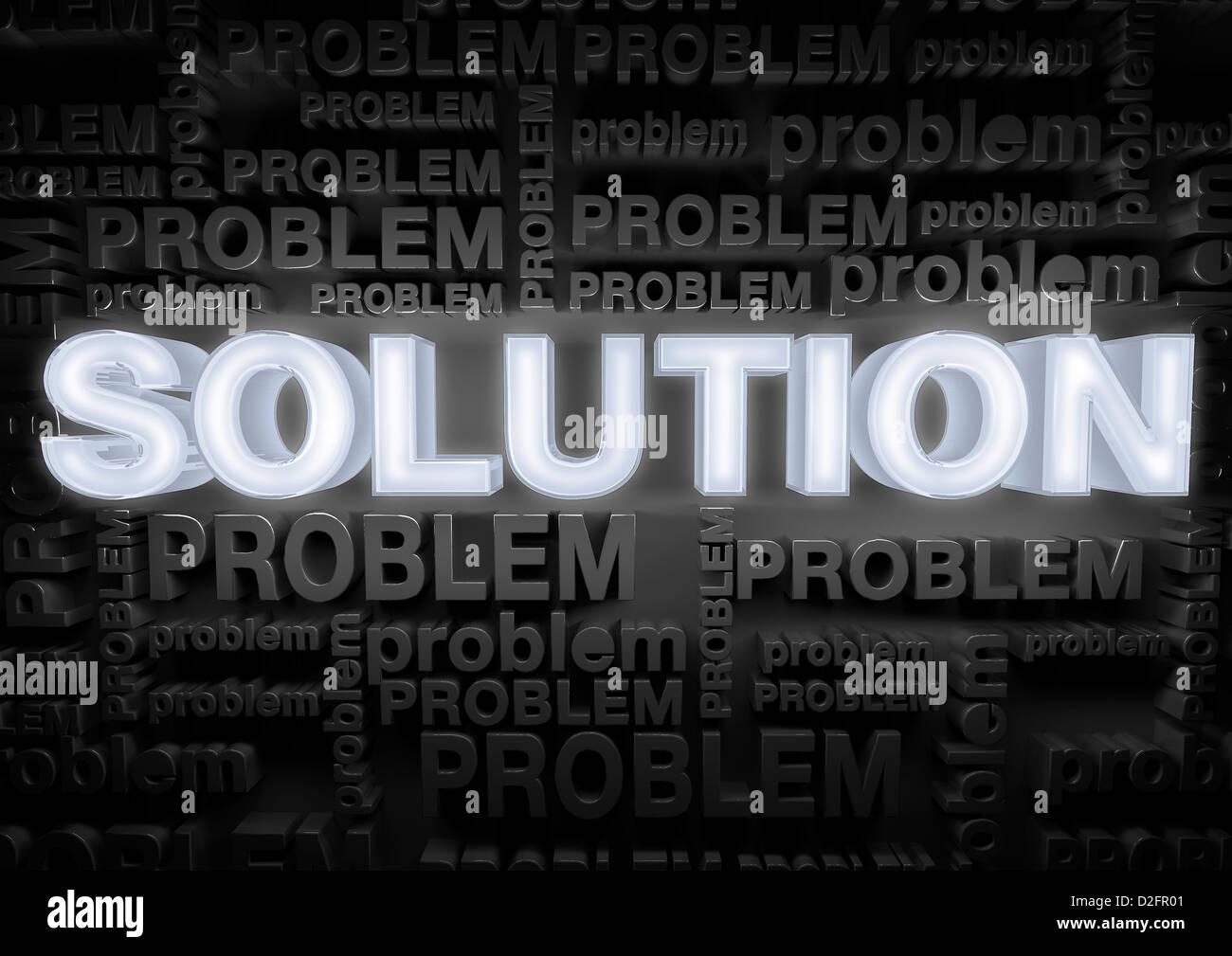 El concepto de la solución Imagen De Stock