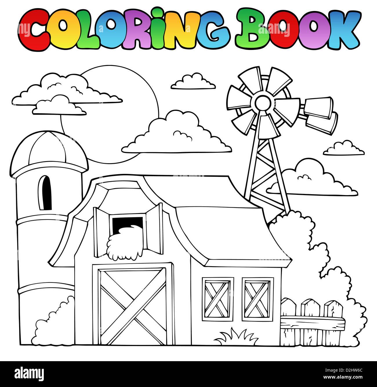 Libro para colorear granja Tema 1 - ilustración ilustración Foto ...