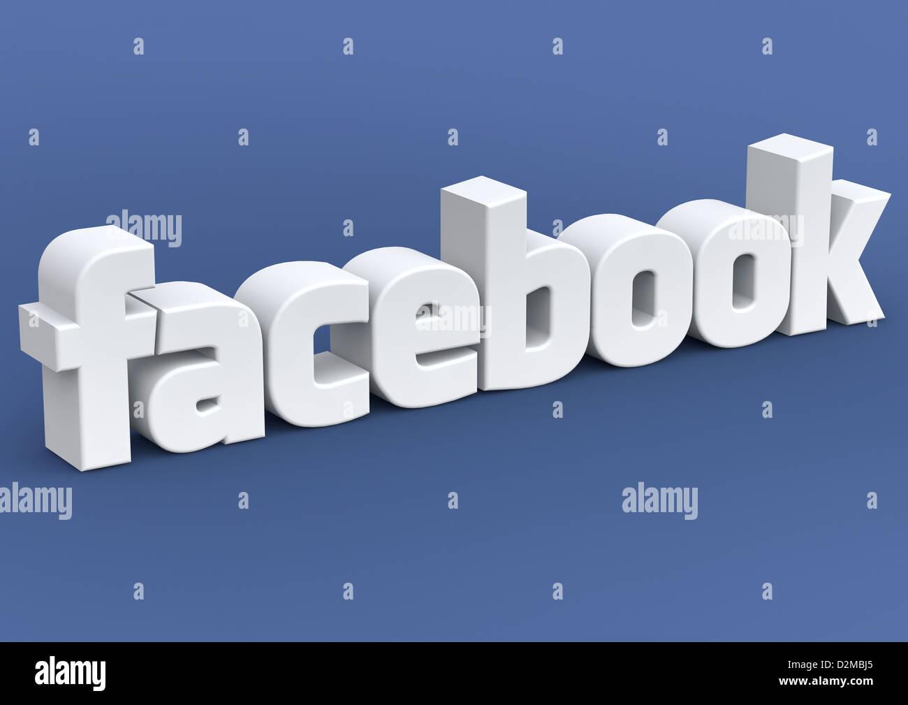 FACEBOOK - social media imagen concepto Imagen De Stock
