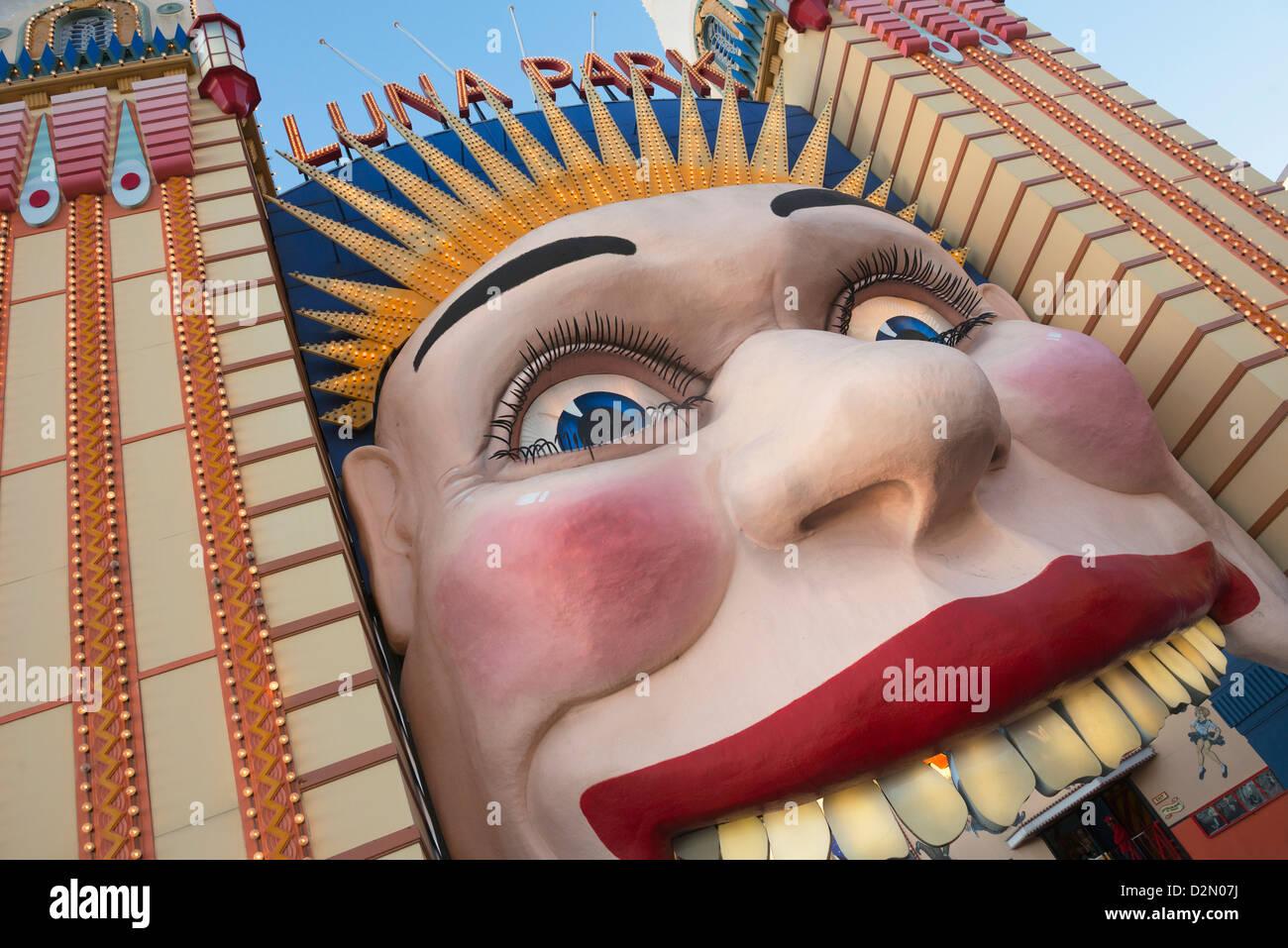 Entrada del Luna Park, Sydney, New South Wales, Australia, el Pacífico Imagen De Stock