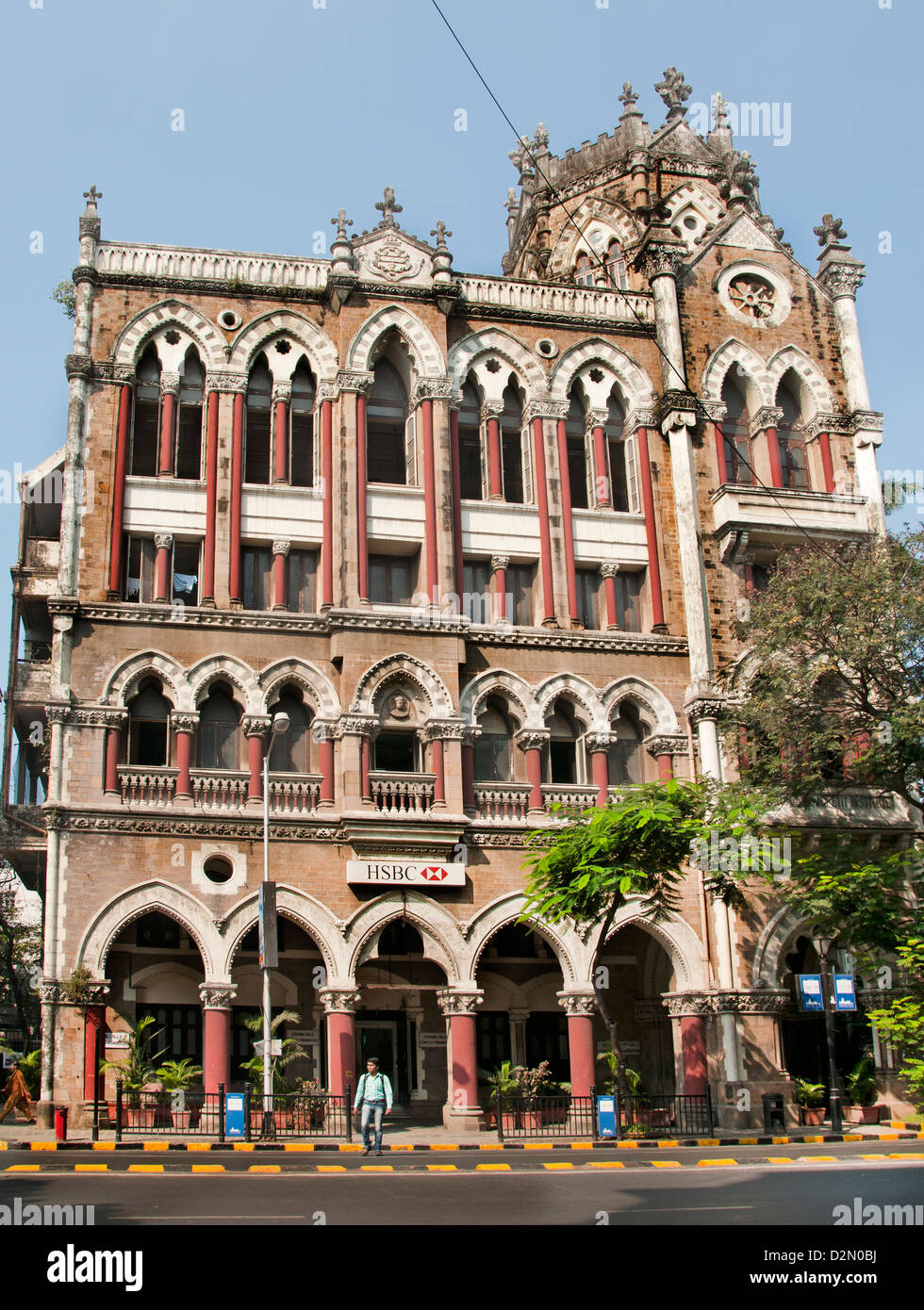 HSBC Bank D N Road Mumbai Fort ( ) de Bombay, India Imagen De Stock