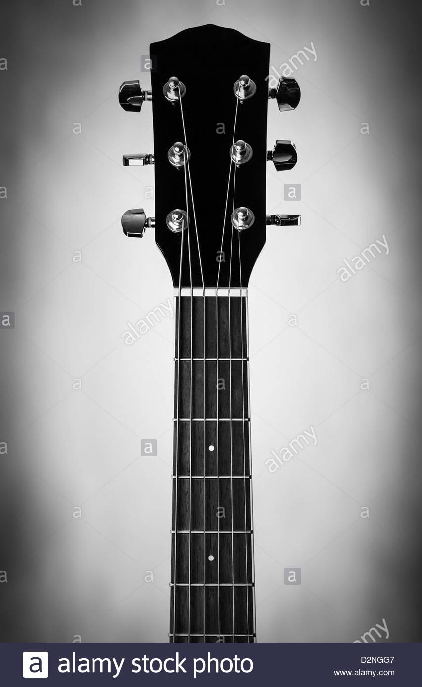 cuello de la guitarra Imagen De Stock