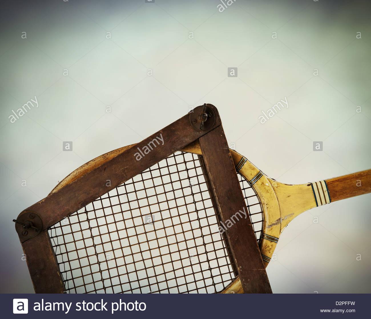 Raqueta de tenis antigua Imagen De Stock