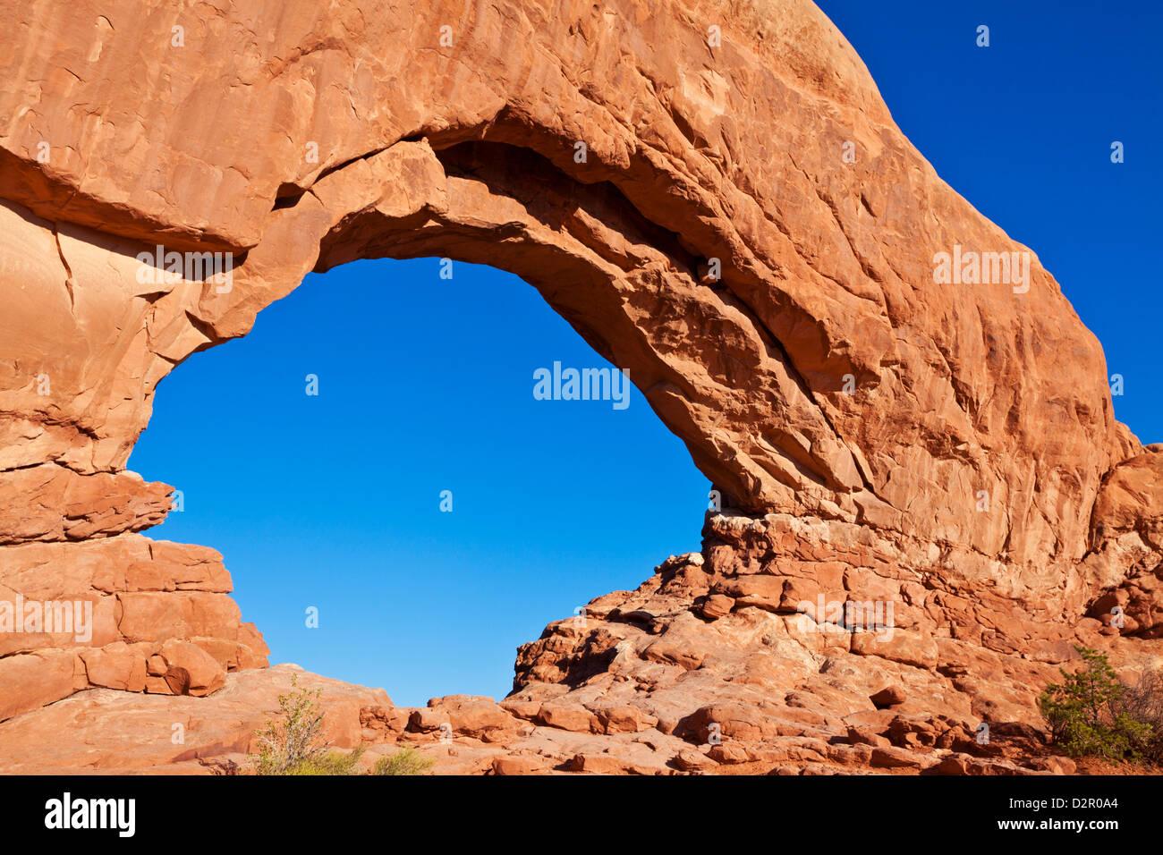 Ventana norte Arch Arches National Park, cerca de Moab, Utah, Estados Unidos de América, América del Norte Imagen De Stock