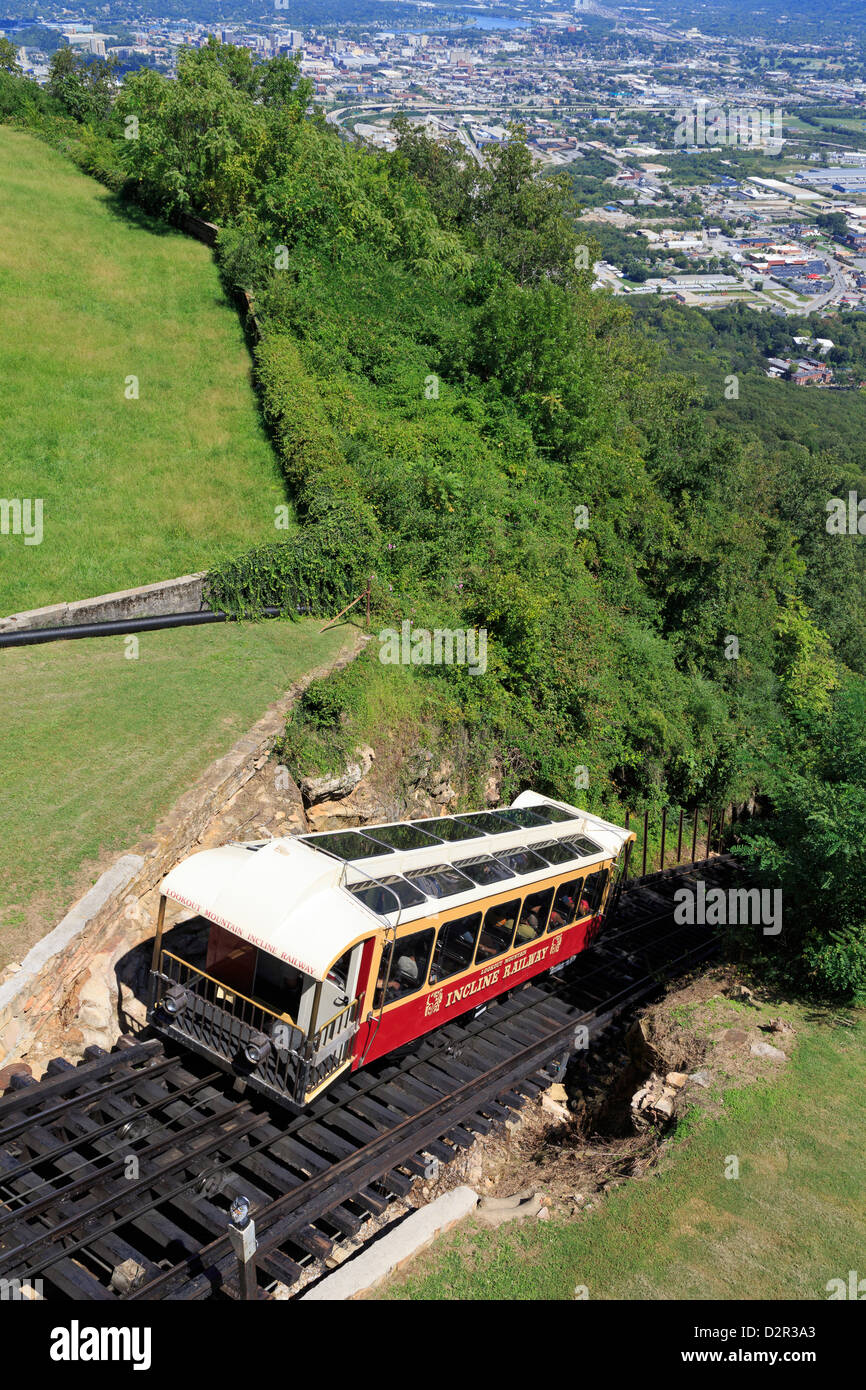 Incline Railway en Lookout Mountain, Chattanooga, Tennessee, Estados Unidos de América, América del Norte Imagen De Stock