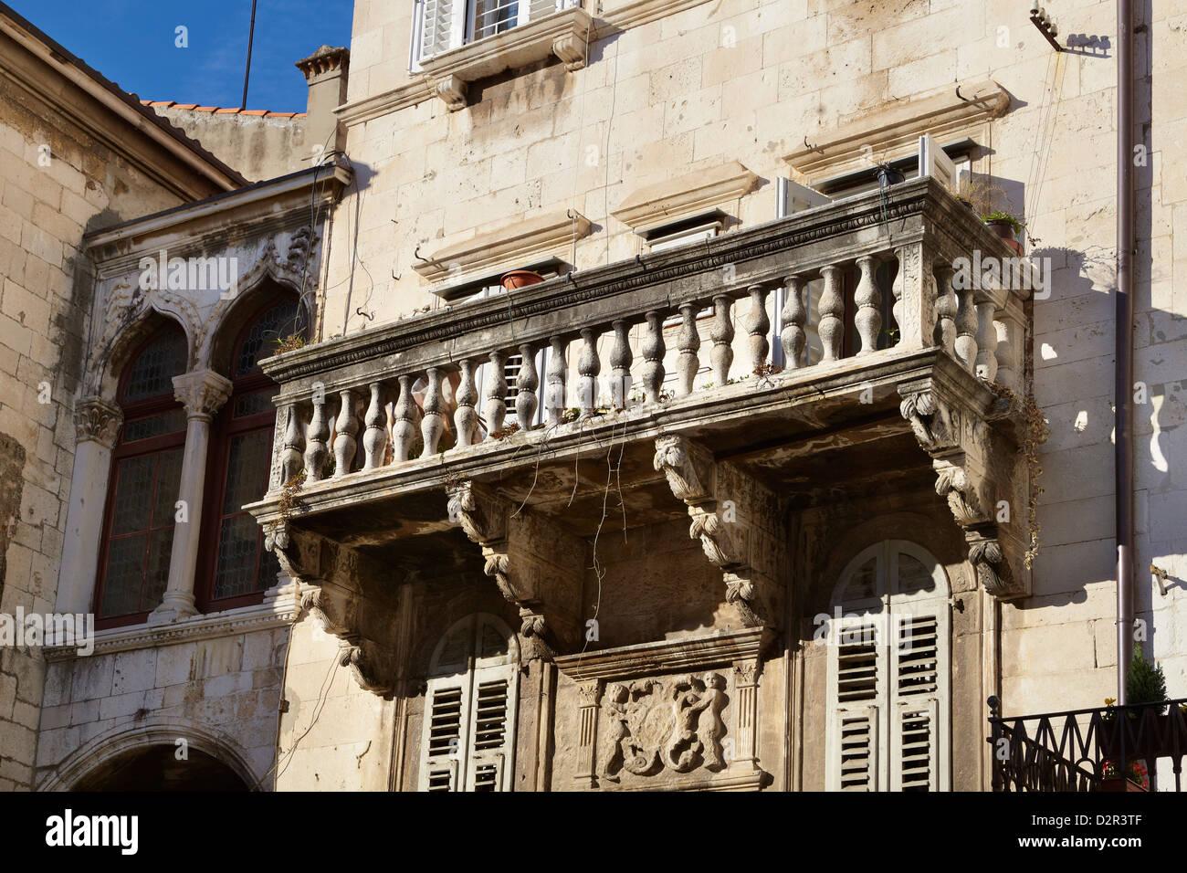 Split, Croacia, detalle de la arquitectura en Split Ciudad Vieja Foto de stock