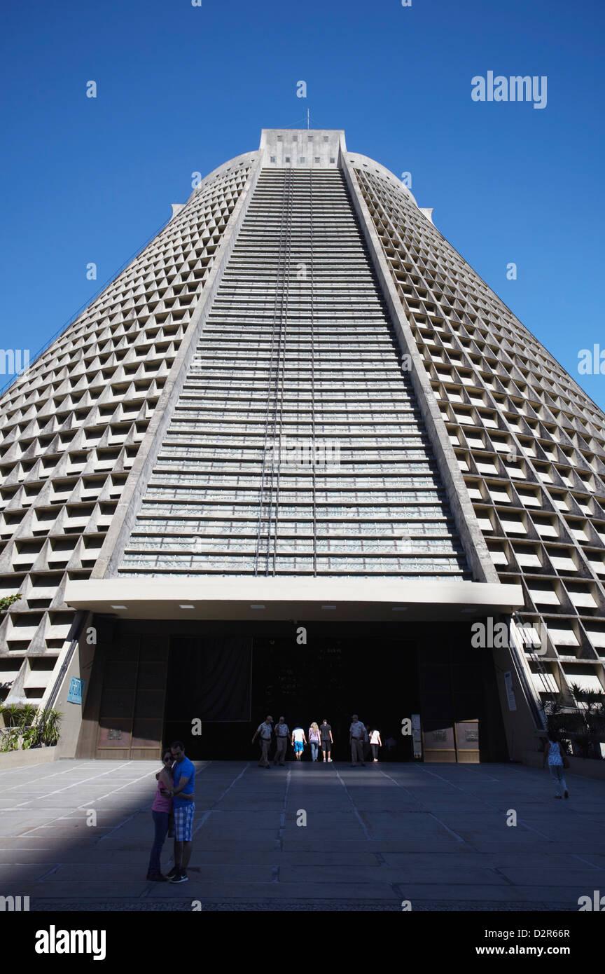 Catedral Metropolitana de San Sebastián, Centro, Río de Janeiro, Brasil, América del Sur Foto de stock