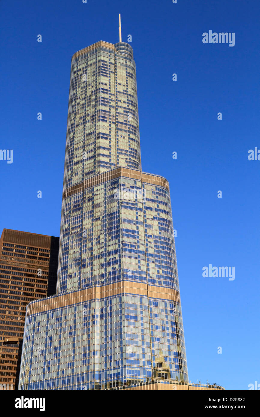 Trump Tower, Chicago, Illinois, Estados Unidos de América, América del Norte Imagen De Stock