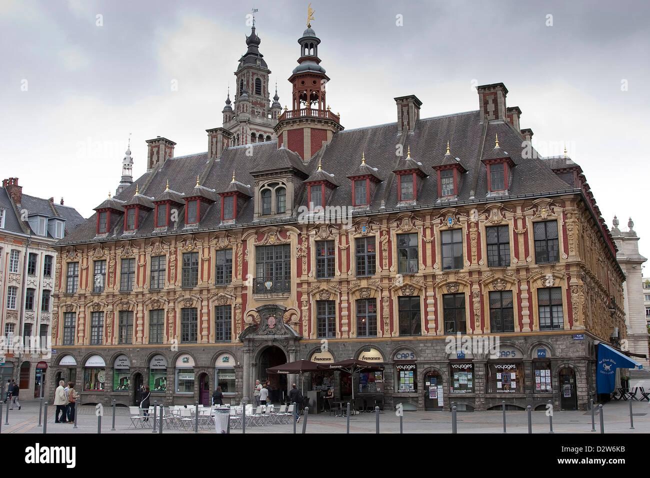 Vieille Bourse, Lille, Francia. Imagen De Stock