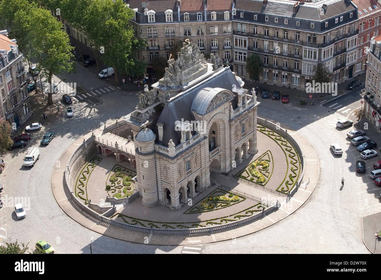 Porte de París (puerta de París, Lille, Francia Imagen De Stock