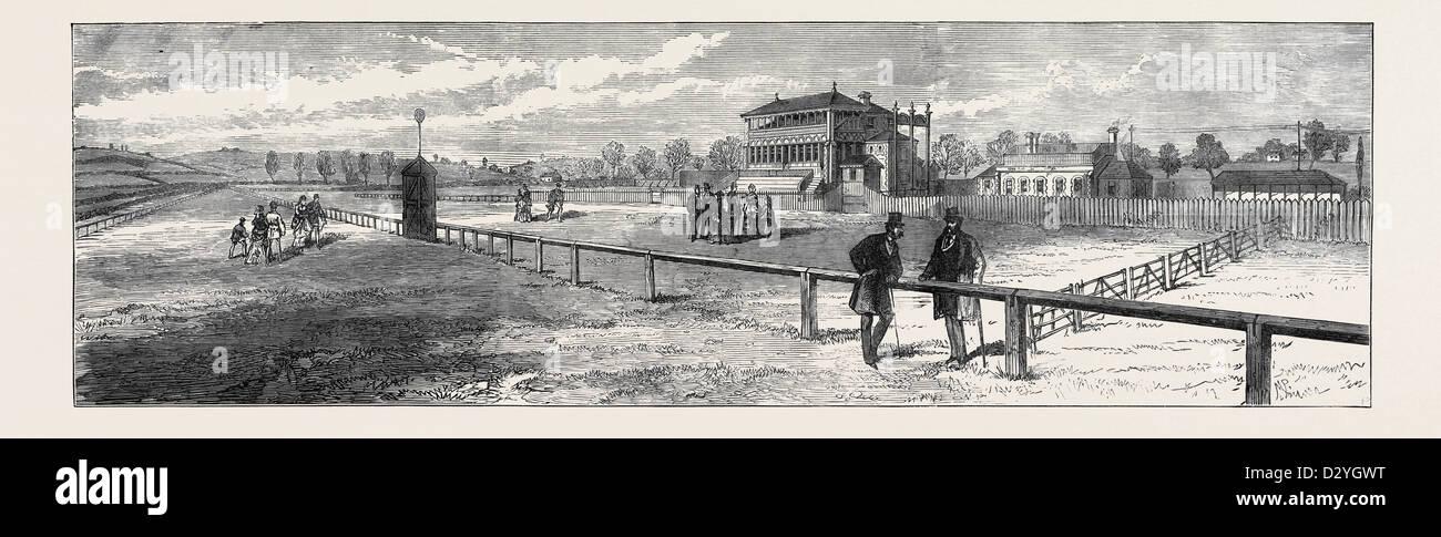 El nuevo Hipódromo de Bristol: el Grand Stand 1873 Imagen De Stock