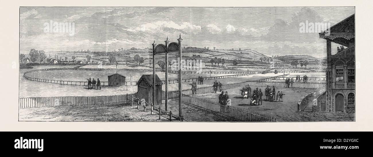 El nuevo Hipódromo de Bristol: ver de cerca el Grand Stand 1873 Imagen De Stock