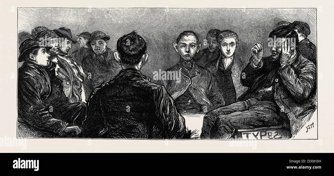 HOME NOTICIAS-boys en la metrópoli: Los especímenes de los reclusos Imagen De Stock
