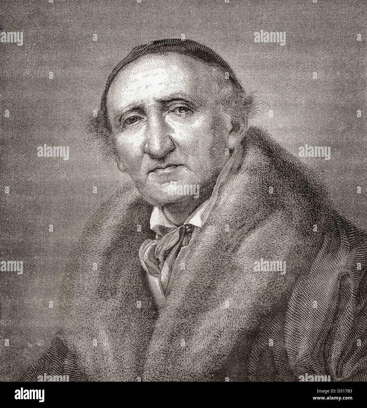 Johann Gottfried Schadow, 1764 -1850. Escultor alemán. Foto de stock
