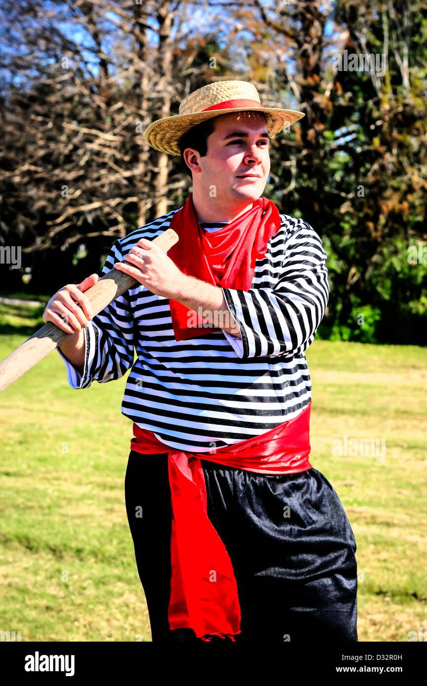 Vestida como un varón adulto gondolero italiano de Venecia Florida ... a1acb049ceb