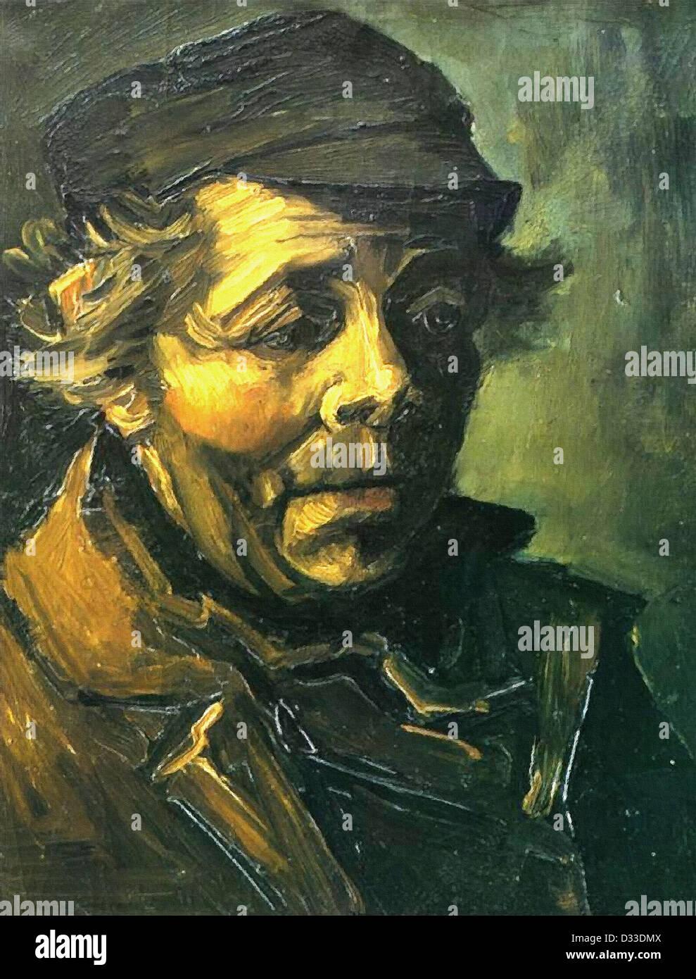 Vincent van Gogh: Cabeza de un campesino (Estudio de los comedores ...