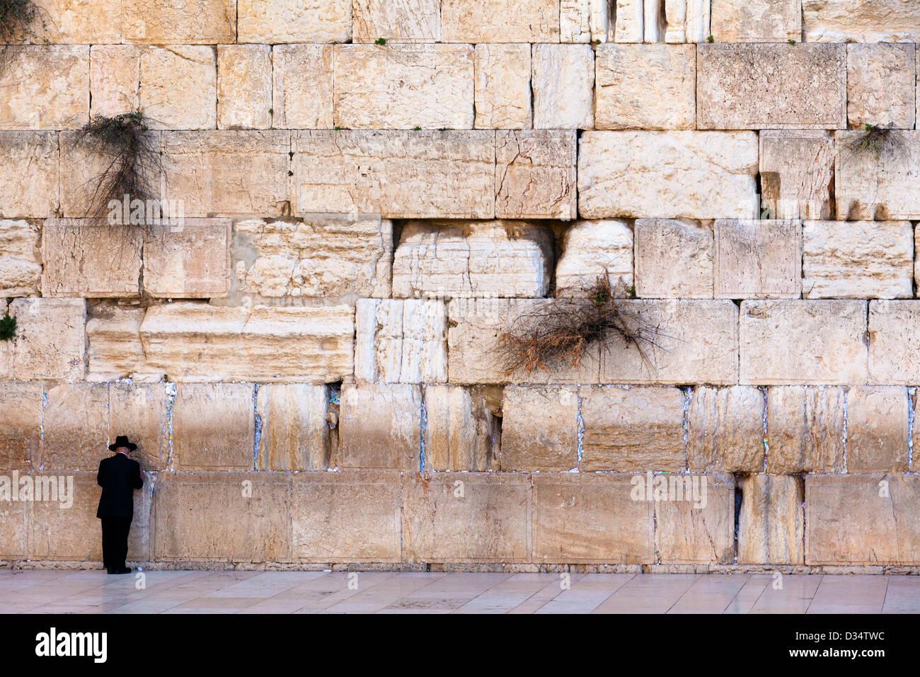 Vista del muro de las Lamentaciones de Jerusalén, Israel Imagen De Stock