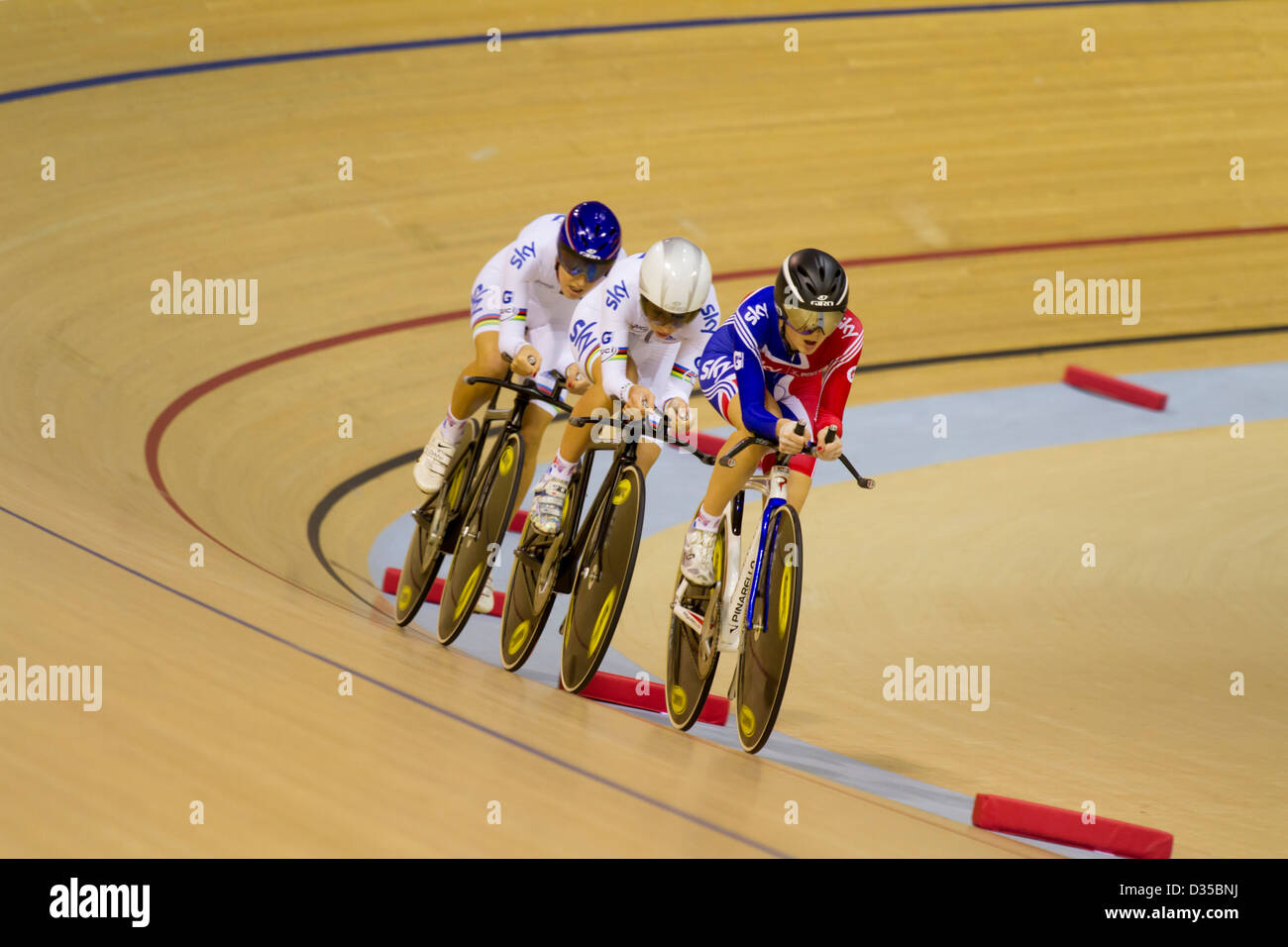 Gran Bretaña Womens team pursuit UCI Track World Cup Glasgow Imagen De Stock