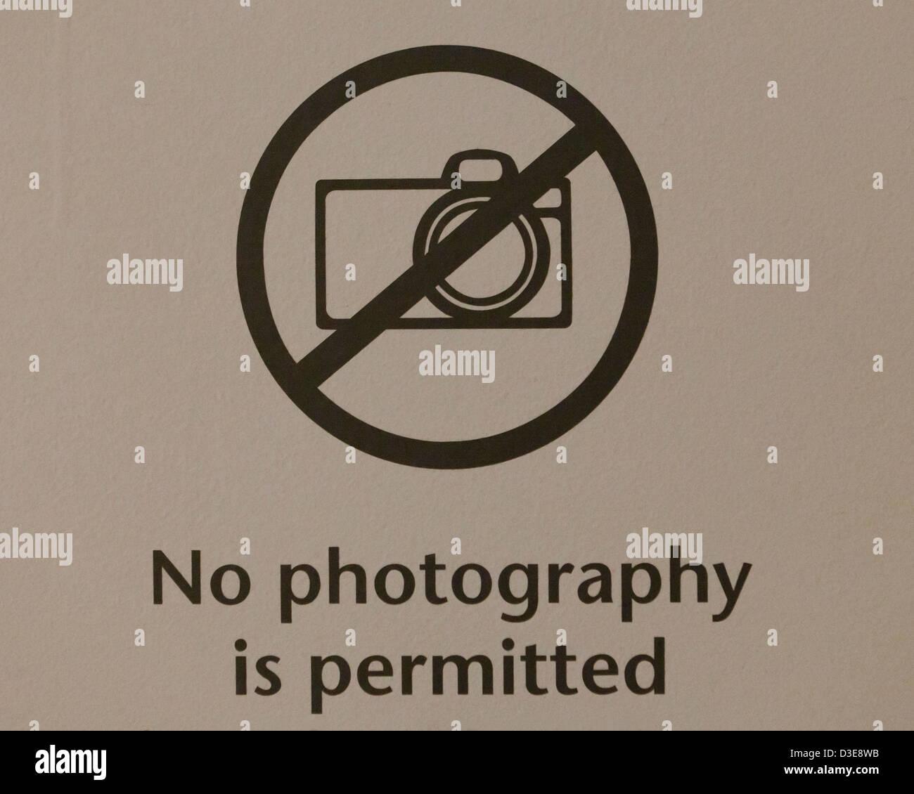 No hay signo de fotografía Imagen De Stock
