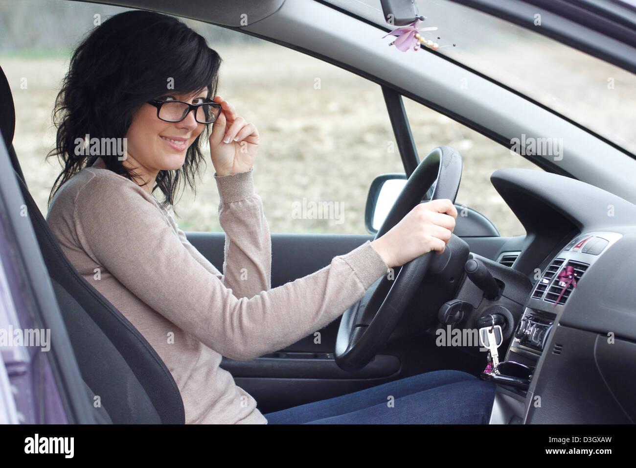 Conductor de automóvil Imagen De Stock