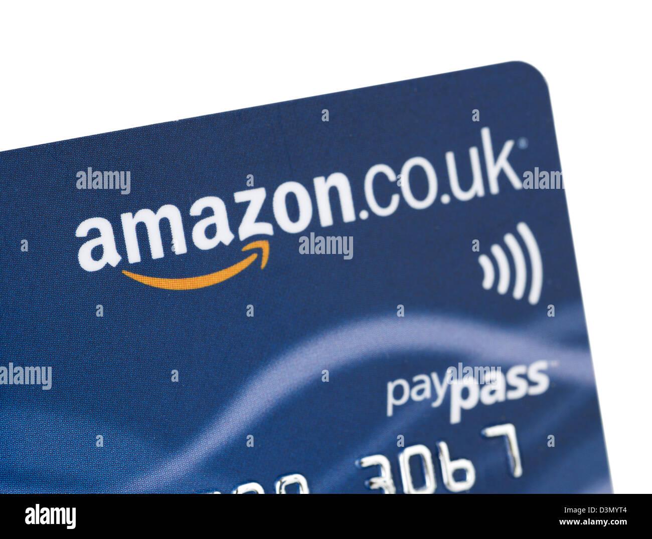Amazon.co.uk marca de tarjetas de crédito emitidas en el REINO UNIDO Imagen De Stock