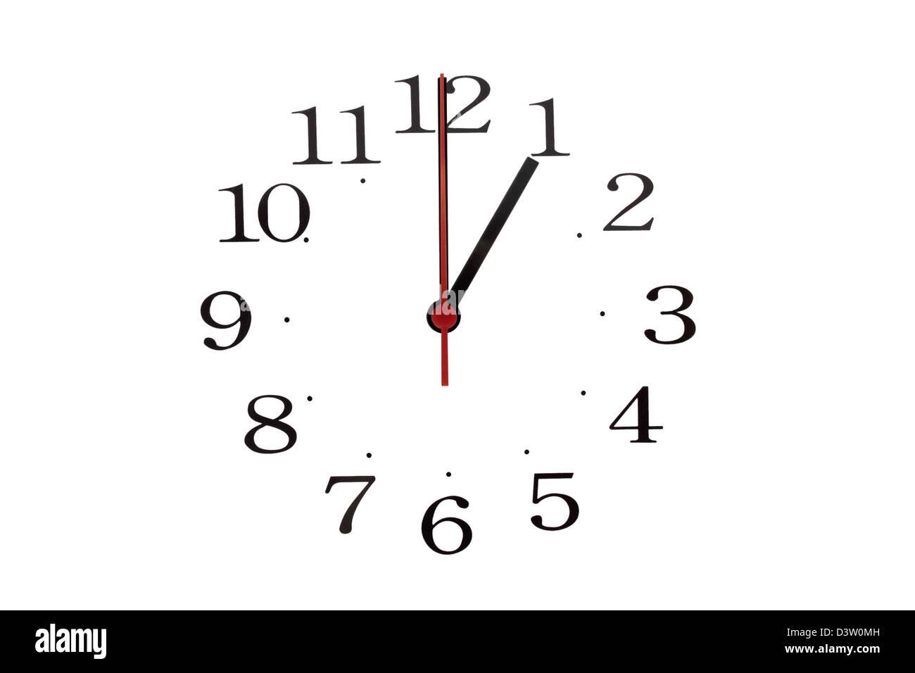 Reloj Manos Foto Y Del 01 Lectura Una Las 00 Números De Los Sólo 4LAj5R