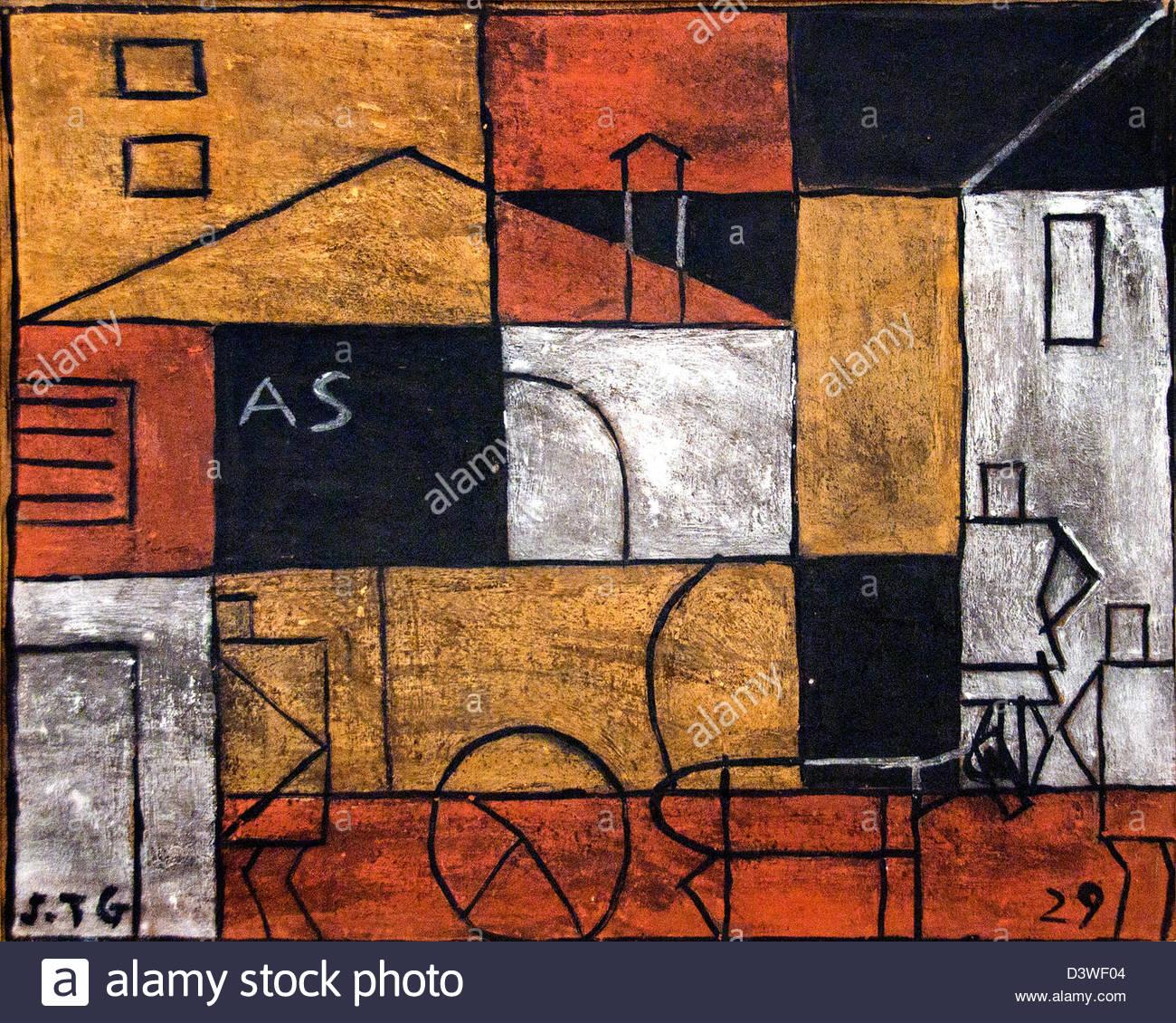 Estructura con Street 1929 Joaquín Torres García de Uruguay Uruguay Imagen De Stock