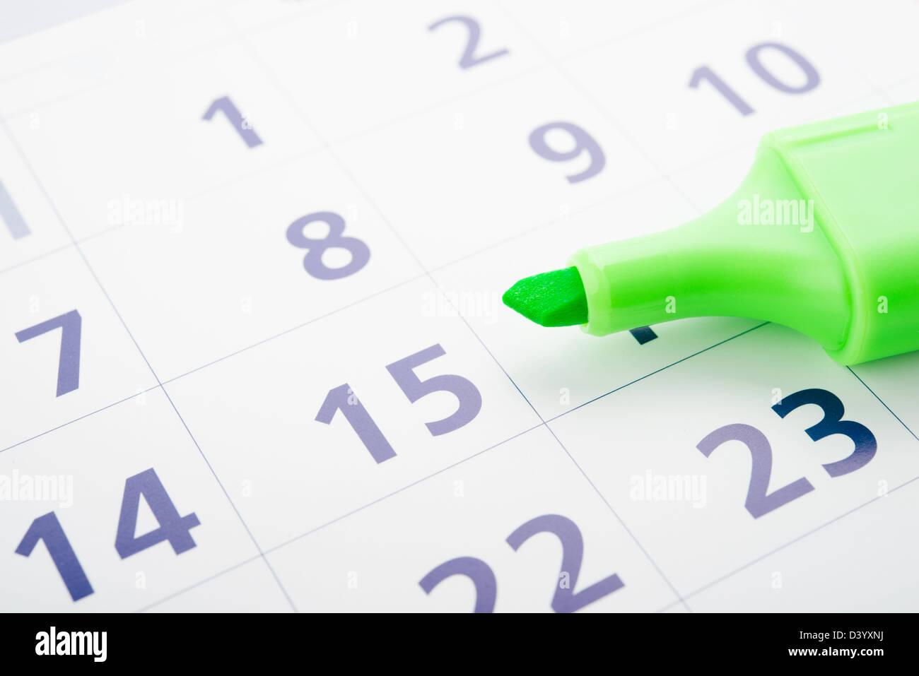 Marca Calendario.La Marca Verde Y Abrir Calendario Foto Imagen De Stock 54088766