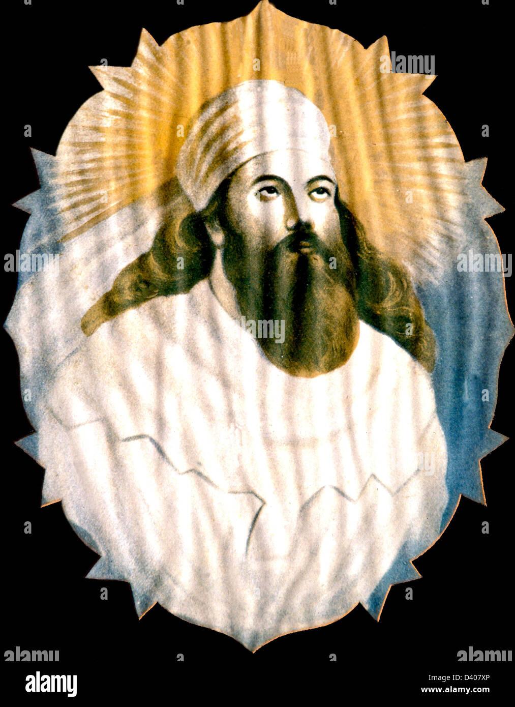 Retrato del profeta zoroastra Zaratustra Zoroastro, también conocido como Zaratustra, Zaratustra Spitama, o Ashu Zaratustra, era un antiguo profeta iraní, líder espiritual y filósofo ético que enseñó una filosofía espiritual de auto-realización y realización de lo Divino. C.E., C. Foto de stock