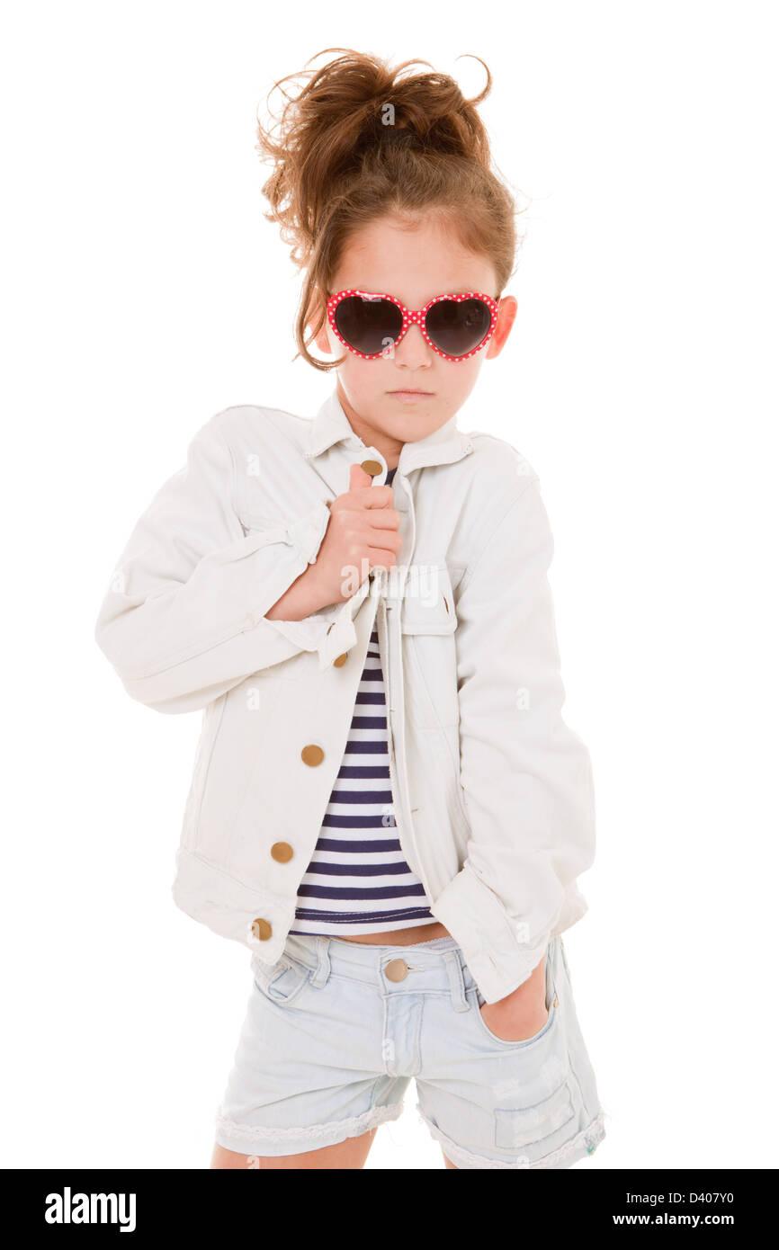 Moda moda cool kid con actitud Imagen De Stock