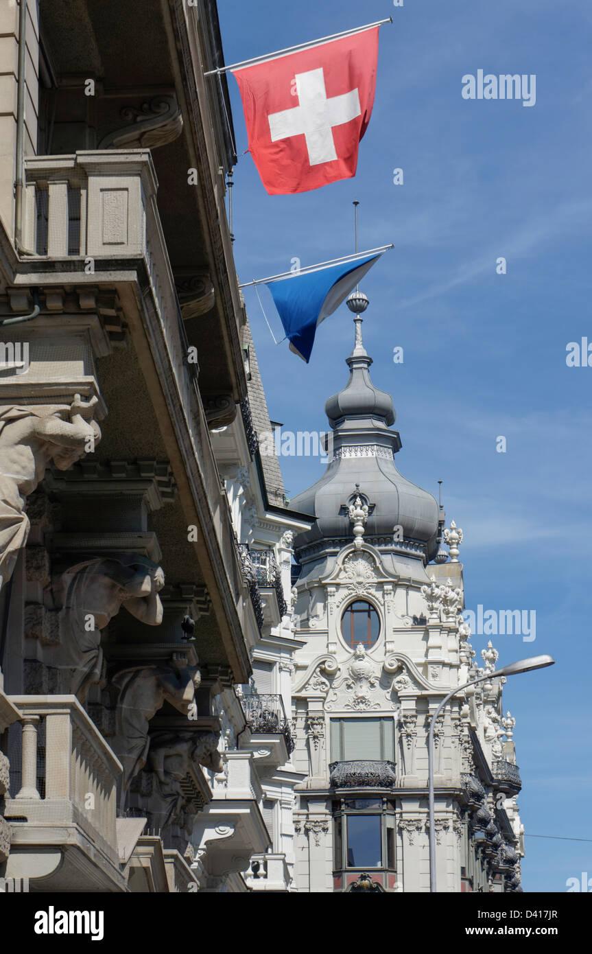 Monopol , Neo arquitectura barroca, Zurich, Suiza Imagen De Stock