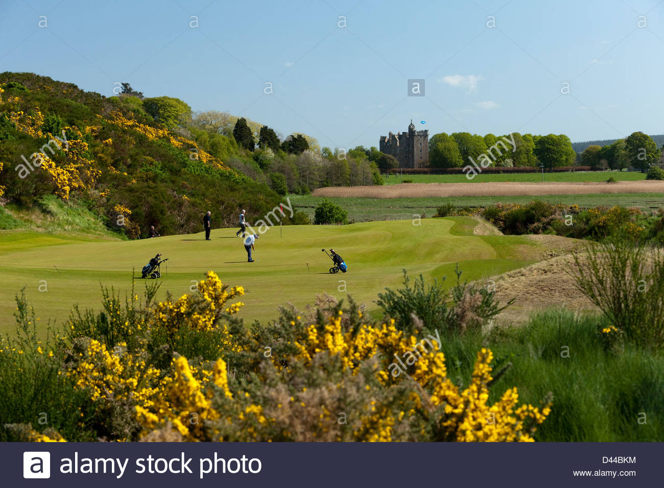 Castle Stuart Golf Links, situado entre Inverness y Nairn, en Escocia, los Moray Firth costa. Imagen De Stock