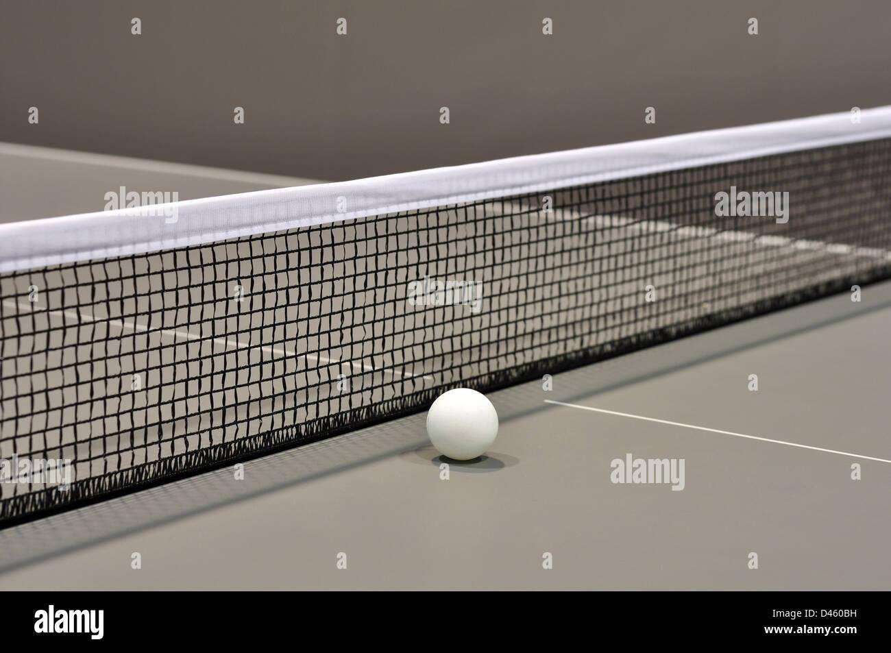 Tenis de mesa Bodegón con el enfoque selectivo closeup Imagen De Stock