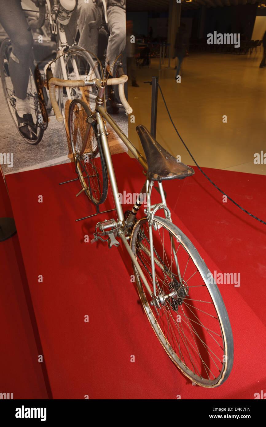 Antigua bicicleta de carreras del Giro d'Italia Imagen De Stock