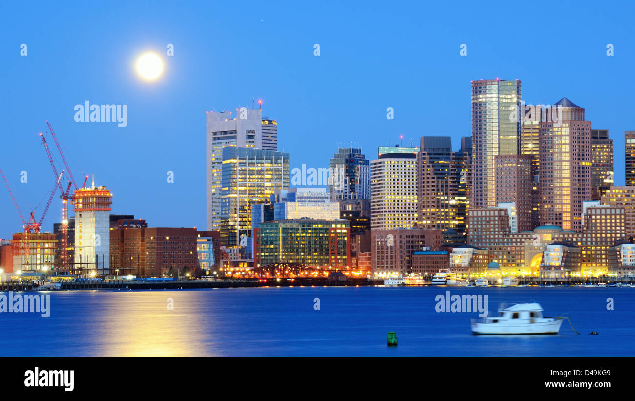 El distrito financiero de Boston, Massachusetts. Imagen De Stock