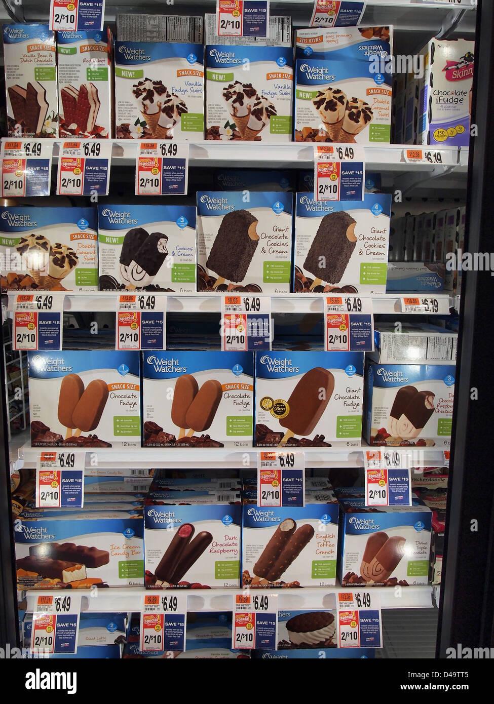 Dieta Weight Watchers Helado En Venta En Un Supermercado En Nueva