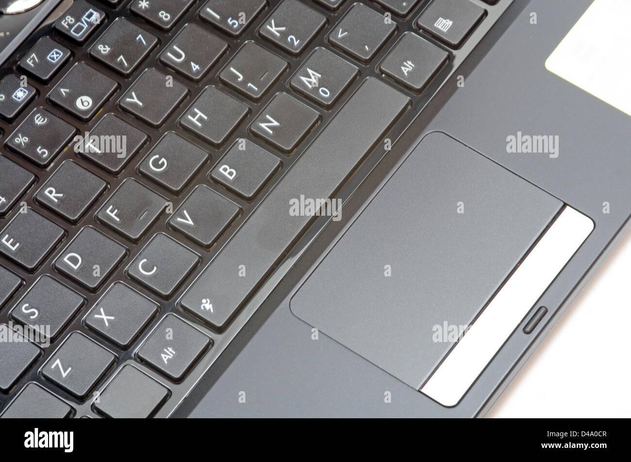 Ratón y teclado de netbook en blanco Imagen De Stock