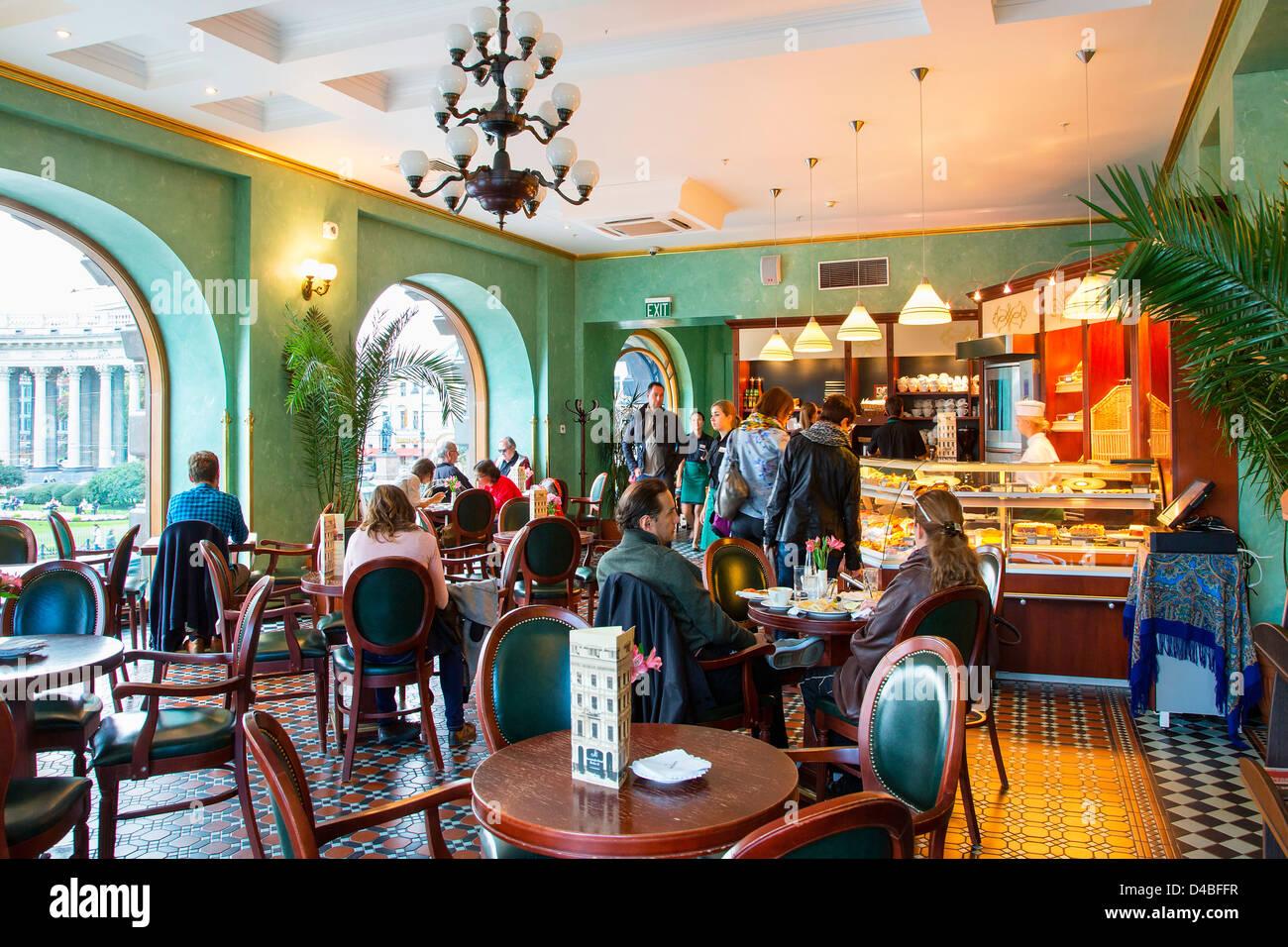 San Petersburgo, Cafe en Dom Knigi librería Imagen De Stock