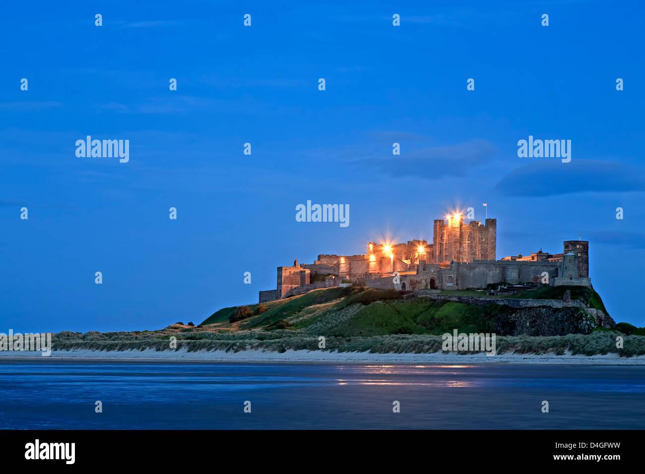 Castillo de Bamburgh, Bamburgh, England, Reino Unido Imagen De Stock