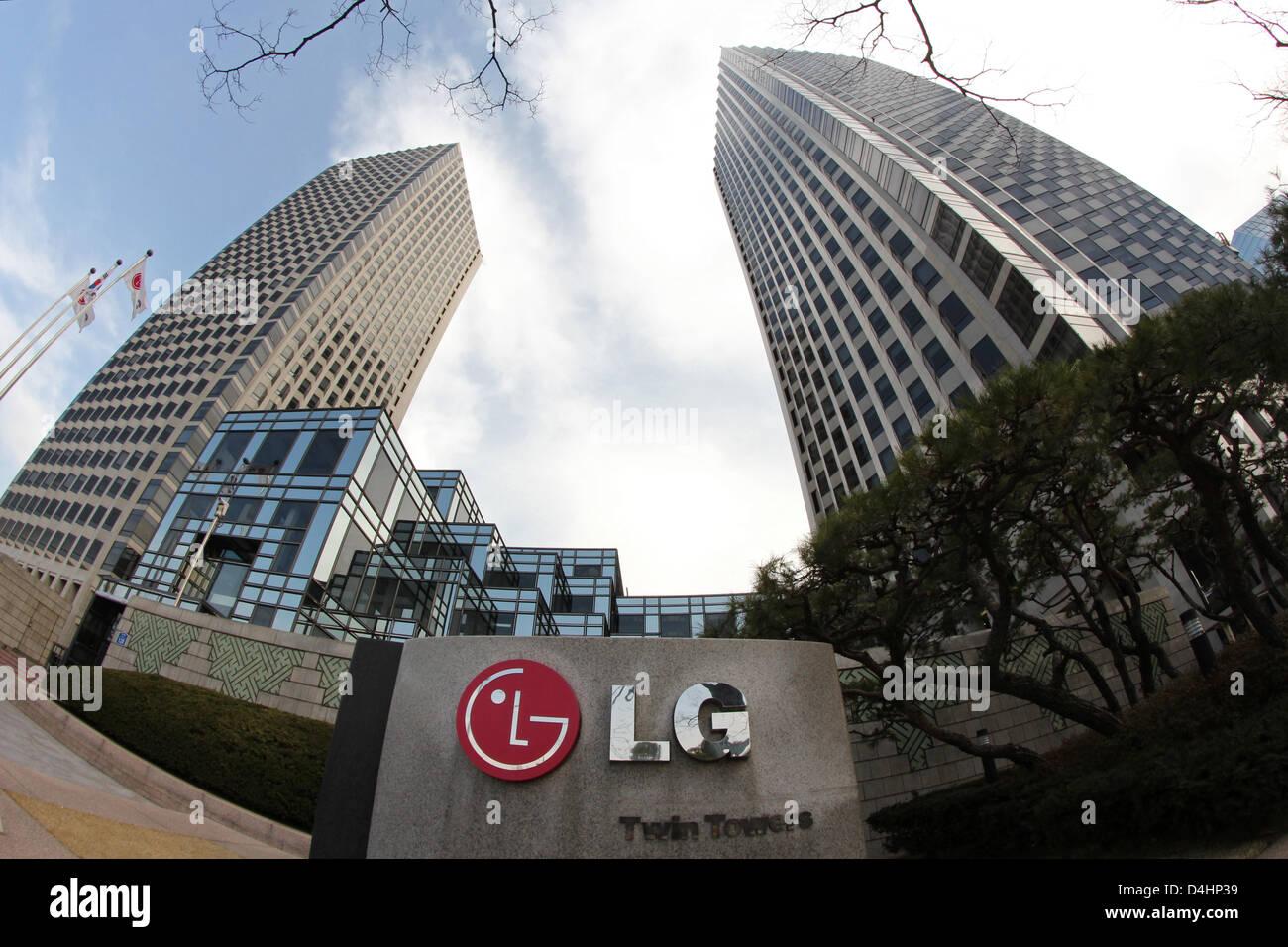 Corea del Sur: la sede de LG (LG) de las Torres Gemelas en Seúl Foto de stock