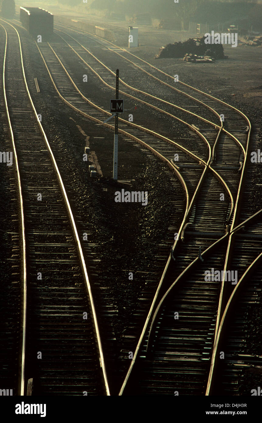 Líneas de ferrocarril Imagen De Stock