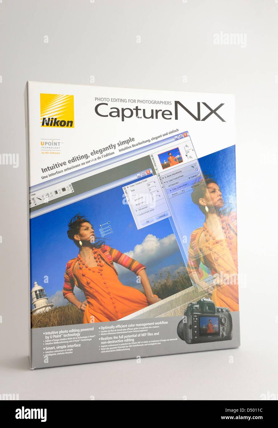 Caja de software Nikon Capture NX Imagen De Stock