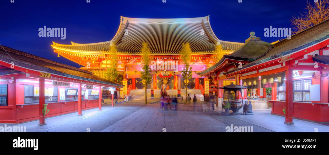 El Templo Senso-ji en Asakusa, Tokio, Japón. Imagen De Stock