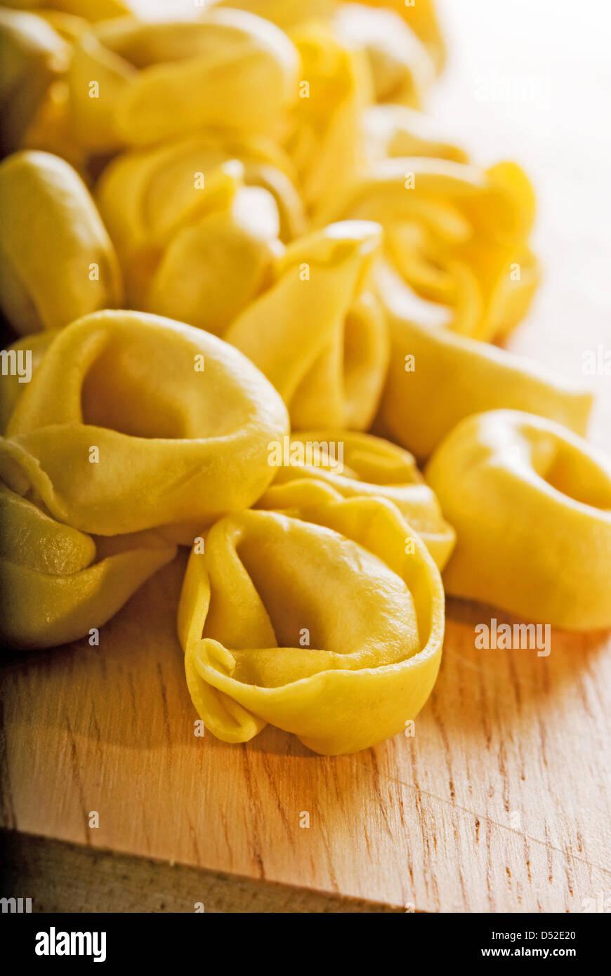 Ravioles, lleno de pasta italiana tradicional Imagen De Stock