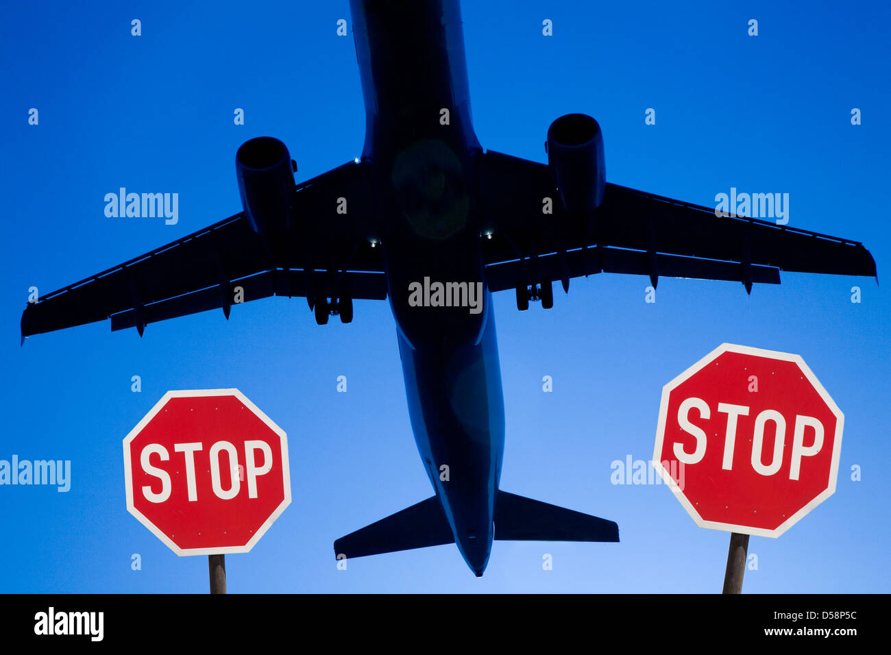 Avión de pasajeros Imagen De Stock