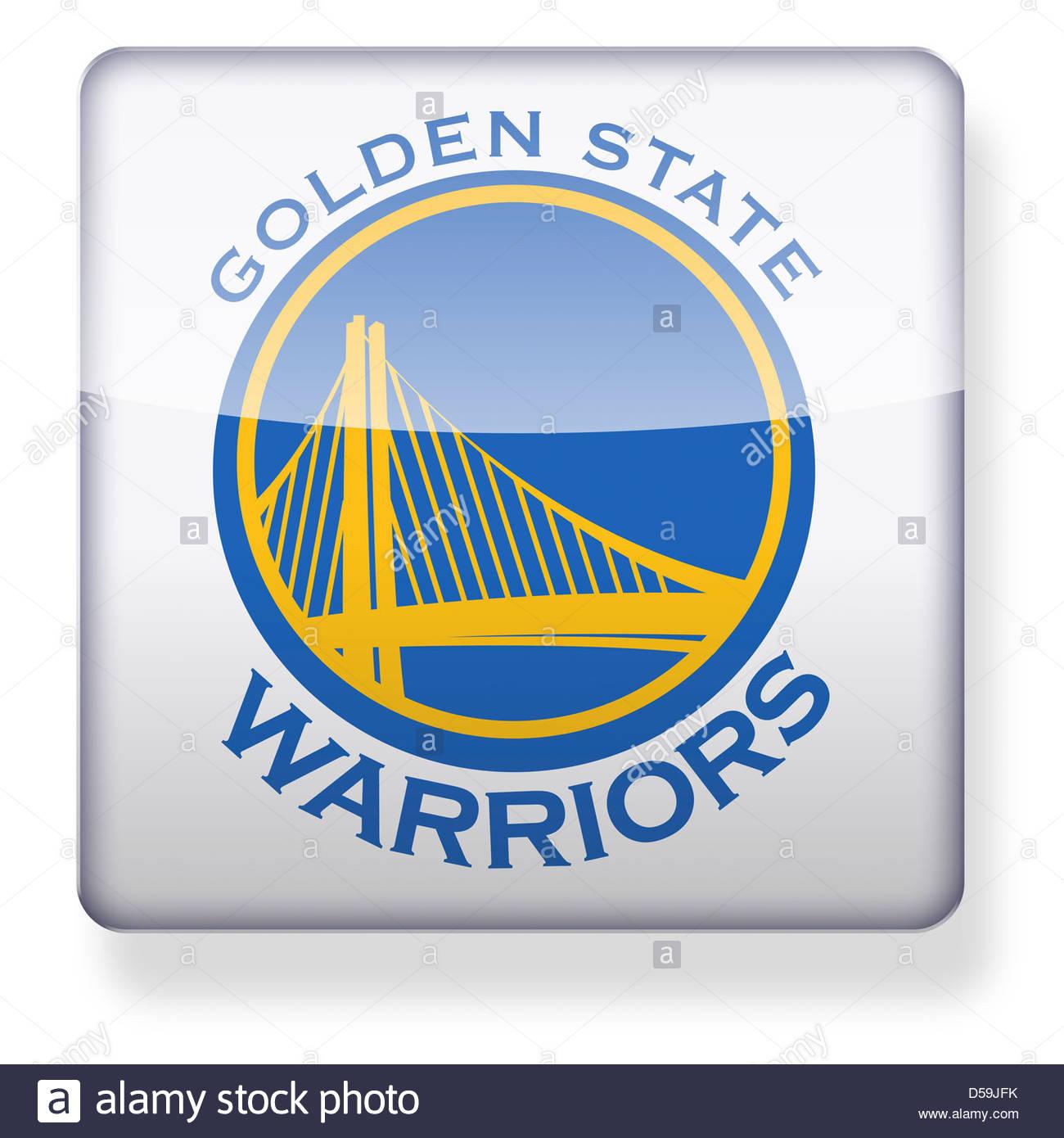 Golden State Warriors logotipo como el icono de una aplicación. Trazado de  recorte incluido. a9ad91d48a8